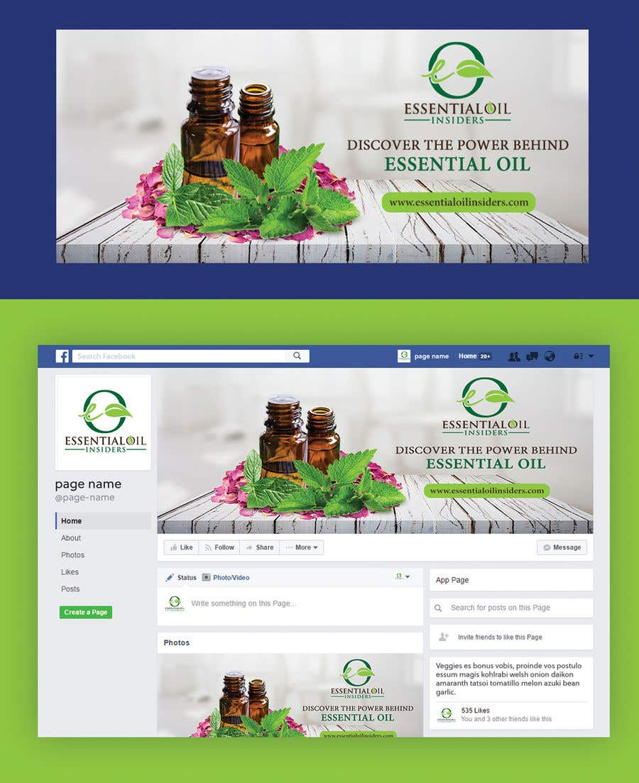 Proposition n°40 du concours Facebook Cover Image for Essential Oil Facebook Community