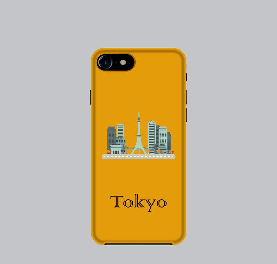 Konkurrenceindlæg #13 for Design a phone case with a minimal skyline of a famous city.