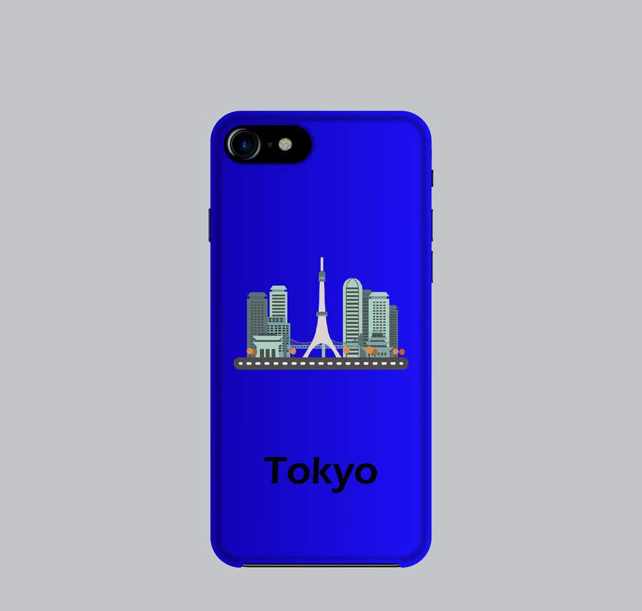 Konkurrenceindlæg #14 for Design a phone case with a minimal skyline of a famous city.