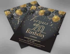 #4 для 70th birthday invite від sharpe10focu