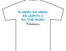 #1399 pentru Need Ideas and Concepts for Geeky Freelancer.com T-Shirt de către AutomatiK