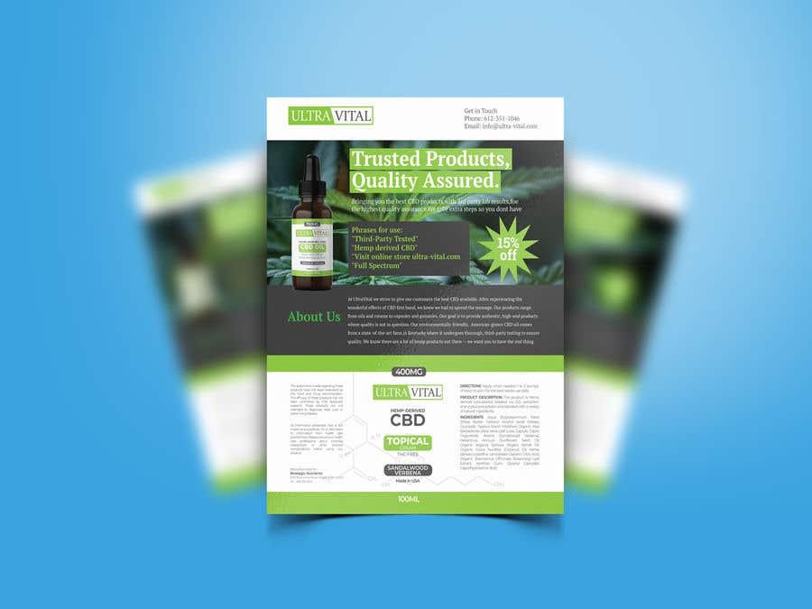Inscrição nº 59 do Concurso para Create flyers/postcards for my CBD oil brand