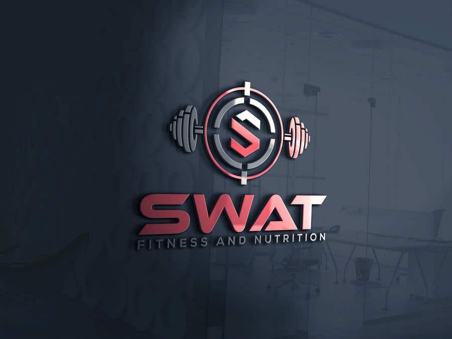 Penyertaan Peraduan #30 untuk SWAT fitness and nutrition logo needed