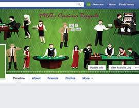 #42 for 1960s Casino FB Cover af mdfahimhossain32