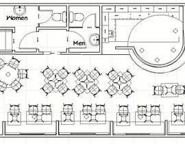 nº 11 pour 3 D rendering for Bar & Restaurant par ronaaron2