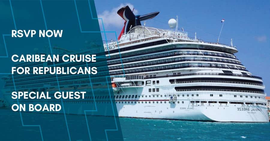 "Kilpailutyö #29 kilpailussa Facebook Ad Graphic for ""Duval Trump Club Caribbean Cruise"""