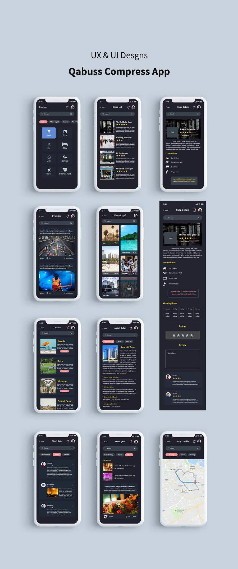 Konkurrenceindlæg #43 for Ui Ux Design for a Mobile App