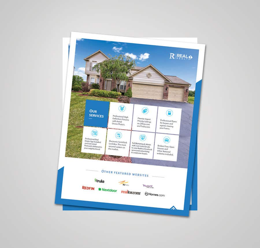 Bài tham dự cuộc thi #65 cho Custom one page Professional Brochure for Real Estate Company