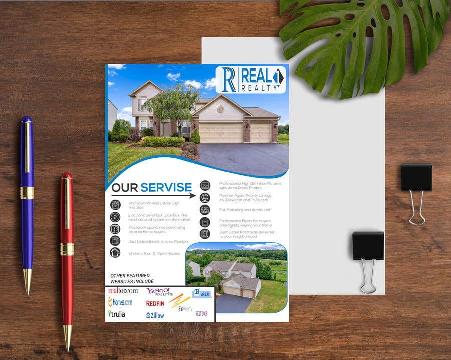 Bài tham dự cuộc thi #167 cho Custom one page Professional Brochure for Real Estate Company