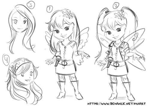 Cartoon Character Design Competition : Entry by fiviach for character design a cute kids