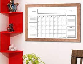 #59 untuk Design Calendar Section / Notes Section For a Home Dry Erase Whiteboard oleh bhowmick77