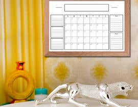 #61 untuk Design Calendar Section / Notes Section For a Home Dry Erase Whiteboard oleh bhowmick77