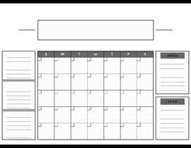 #50 cho Design Calendar Section / Notes Section For a Home Dry Erase Whiteboard bởi SiddharthBakli