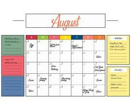 #58 untuk Design Calendar Section / Notes Section For a Home Dry Erase Whiteboard oleh SiddharthBakli