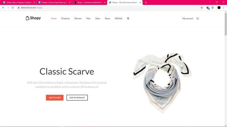 Конкурсная заявка №7 для Design a Home Page Mock-up for Website