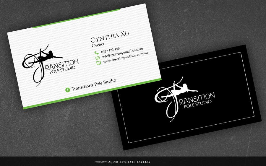 Entry 7 by arnee90 for design some business cards for pole dance contest entry 7 for design some business cards for pole dance studio colourmoves Gallery
