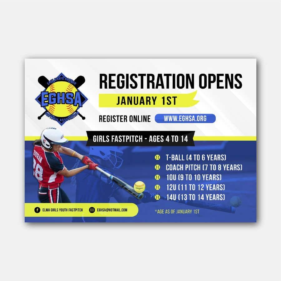 Konkurrenceindlæg #14 for Softball Registration Sign Design