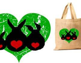 #208 untuk Rabbit Themed Hemp Shopper Bags oleh junthipamo