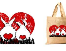 #209 untuk Rabbit Themed Hemp Shopper Bags oleh junthipamo