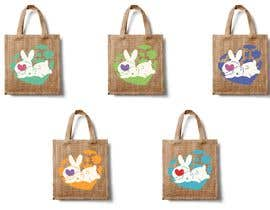 #172 untuk Rabbit Themed Hemp Shopper Bags oleh barbarakoncz