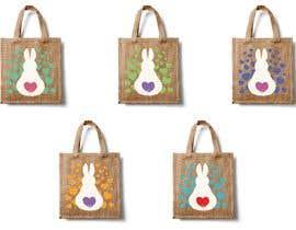 #195 untuk Rabbit Themed Hemp Shopper Bags oleh barbarakoncz
