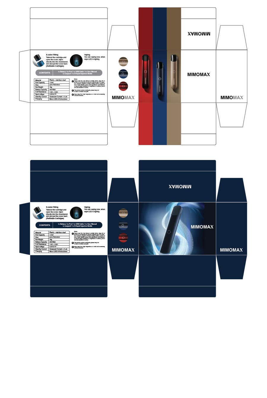 Proposition n°2 du concours want to two packages design