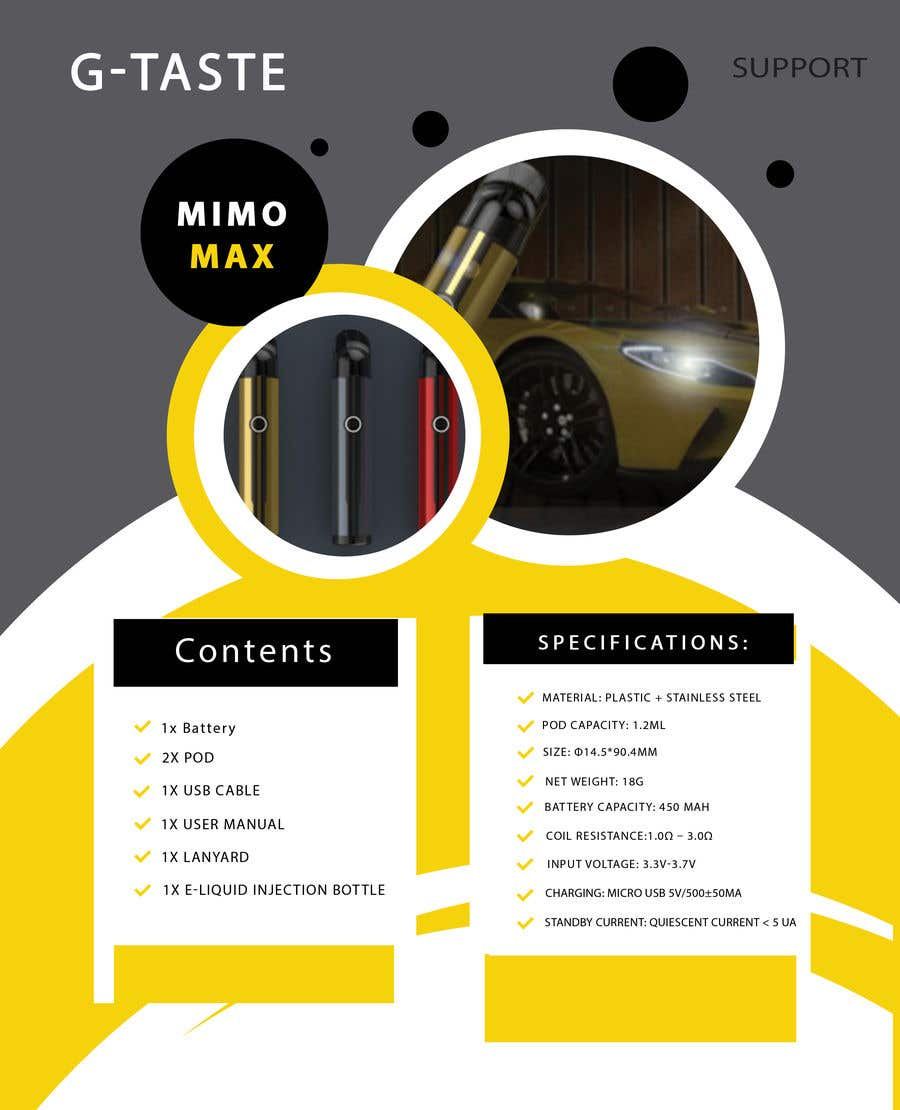 Proposition n°1 du concours want to two packages design