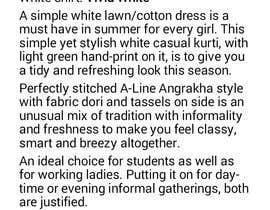 #9 para Garment description por RubinaKanwal