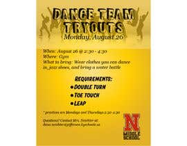 #3 cho Dance team tryout flyer bởi artbogz