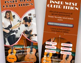 #45 for Design a flyer for guitar tuition af mabbar789