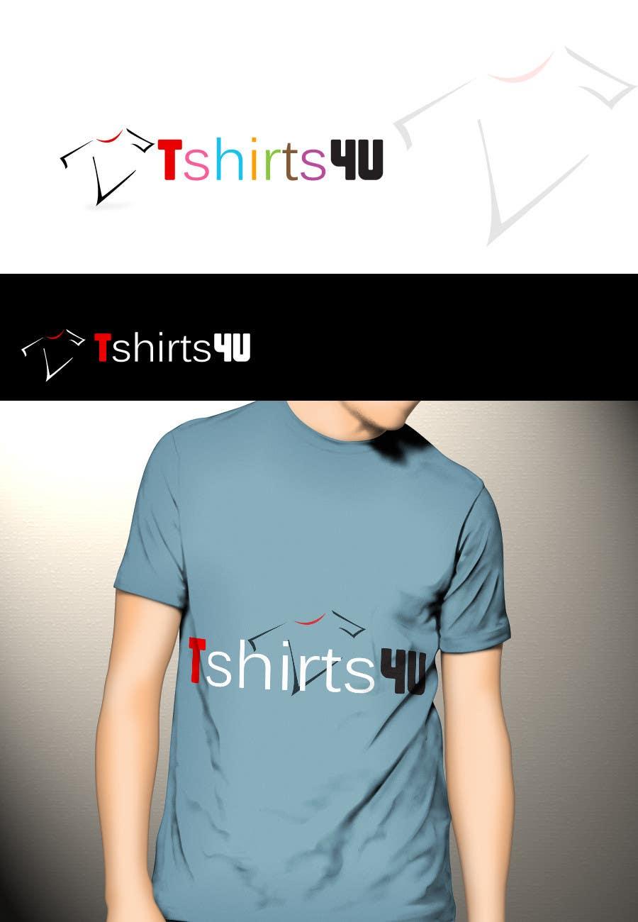 Kilpailutyö #                                        8                                      kilpailussa                                         Logo Design for new online tshirt shop - tshirts4u