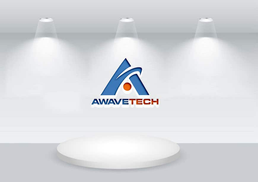 """Kilpailutyö #135 kilpailussa Logo designed for a company; name is Awavetech pronounced """"a-wave-tech"""". Logo should include the letter """"a"""" and a wave 1 color. Looking for something bold. The copyright and files are apart of the agreement. Files need to be sent in ai, eps, png, pdf."""