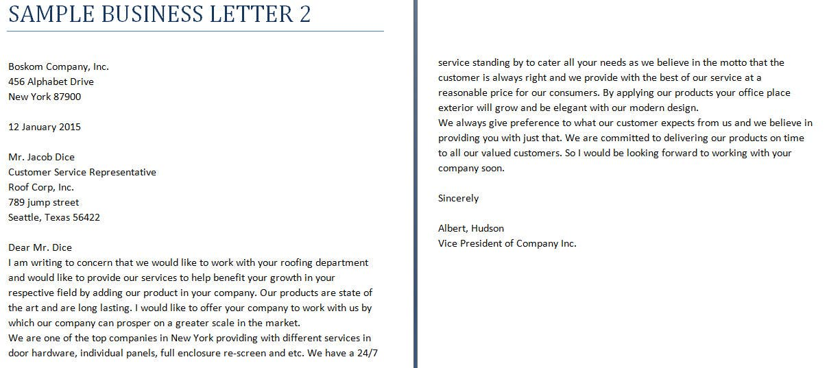 Professional Business Letter Of Introduction.Entry 6 By Contentorions For Professional Company