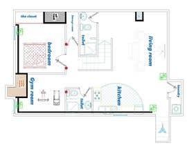 Nro 40 kilpailuun Design Floor plans for finished basement käyttäjältä Parchami