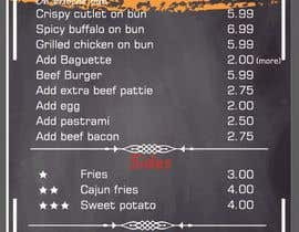 #14 untuk I need menu for 8.5 by 11  With my logo on top and it should say subsational student menu oleh ROMANBD7