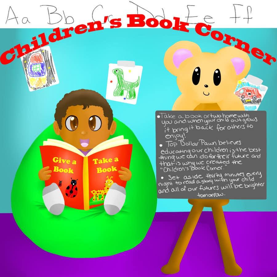 Inscrição nº                                         23                                      do Concurso para                                         Illustration Design for The Children's Book Corner at Top Dollar Pawn