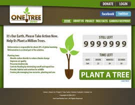 #130 untuk Website Design for 1 Tree Planted oleh tunnu