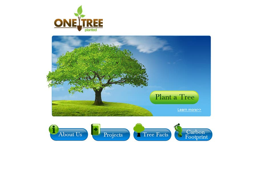 Contest Entry #151 for Website Design for 1 Tree Planted