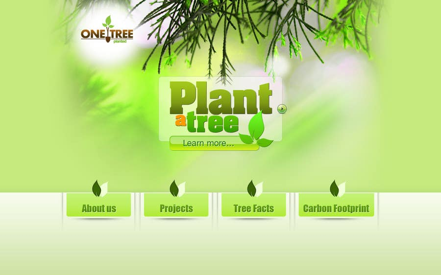 Contest Entry #53 for Website Design for 1 Tree Planted