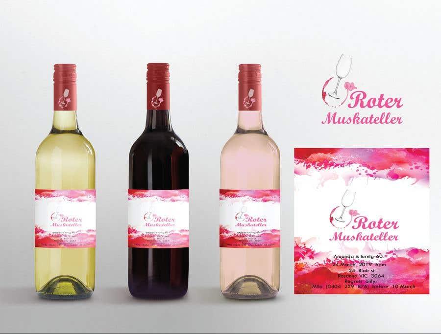 Proposition n°                                        17                                      du concours                                         wine bottle label design