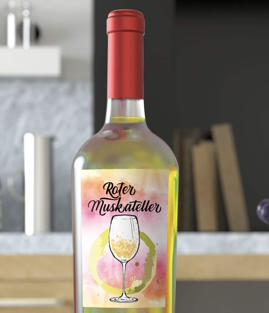 Proposition n°                                        19                                      du concours                                         wine bottle label design