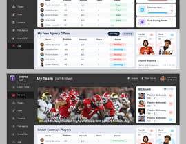 #30 cho Create a Fantasy Football UI Mockup of 2 Screens bởi TopDesign731