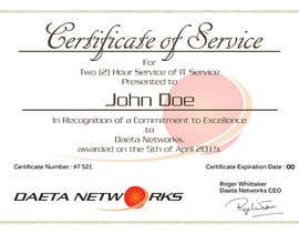 6 for design a simple certificate for free it service by madgavin