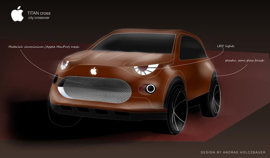 Contest Entry #                                        35                                      for                                         Create a design for the rumored Apple Electric Car