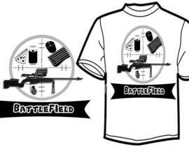 #52 para Battlefield Tactical Warfare Pack [Gaming] T-shirt Design por Chitrakar05anup