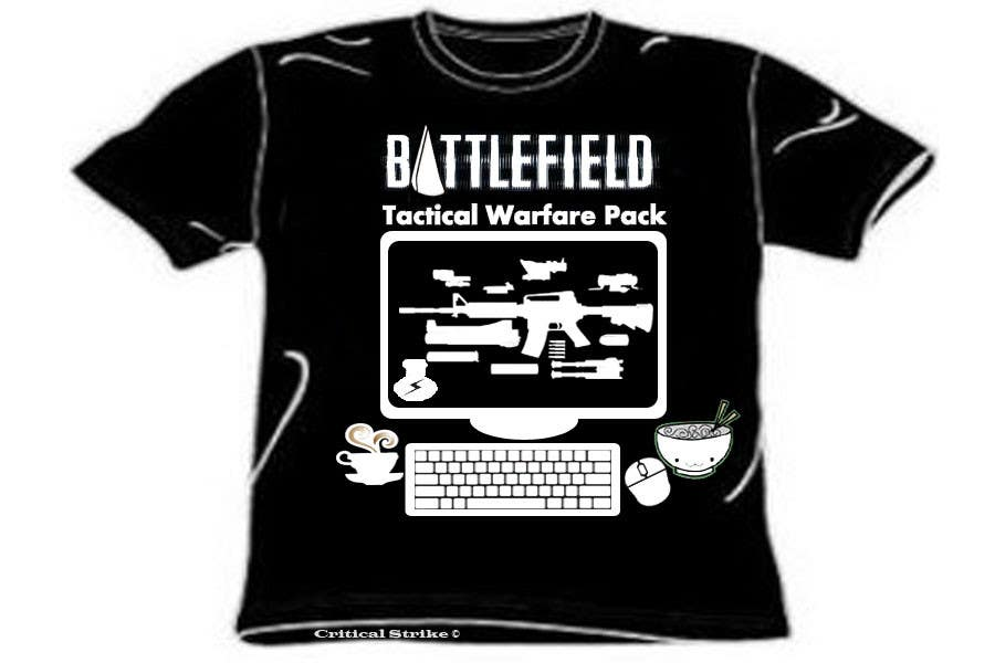 Proposition n°                                        13                                      du concours                                         Battlefield Tactical Warfare Pack [Gaming] T-shirt Design