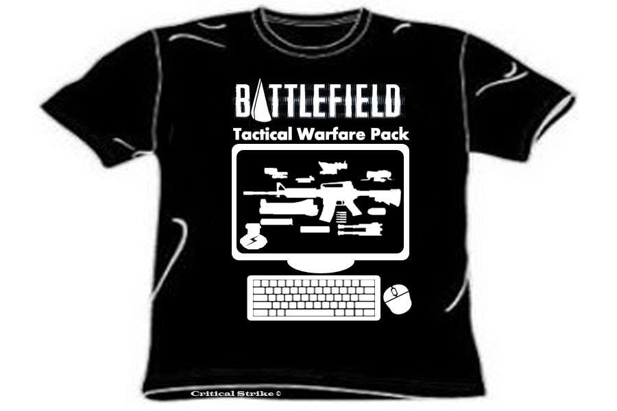 Contest Entry #7 for Battlefield Tactical Warfare Pack [Gaming] T-shirt Design