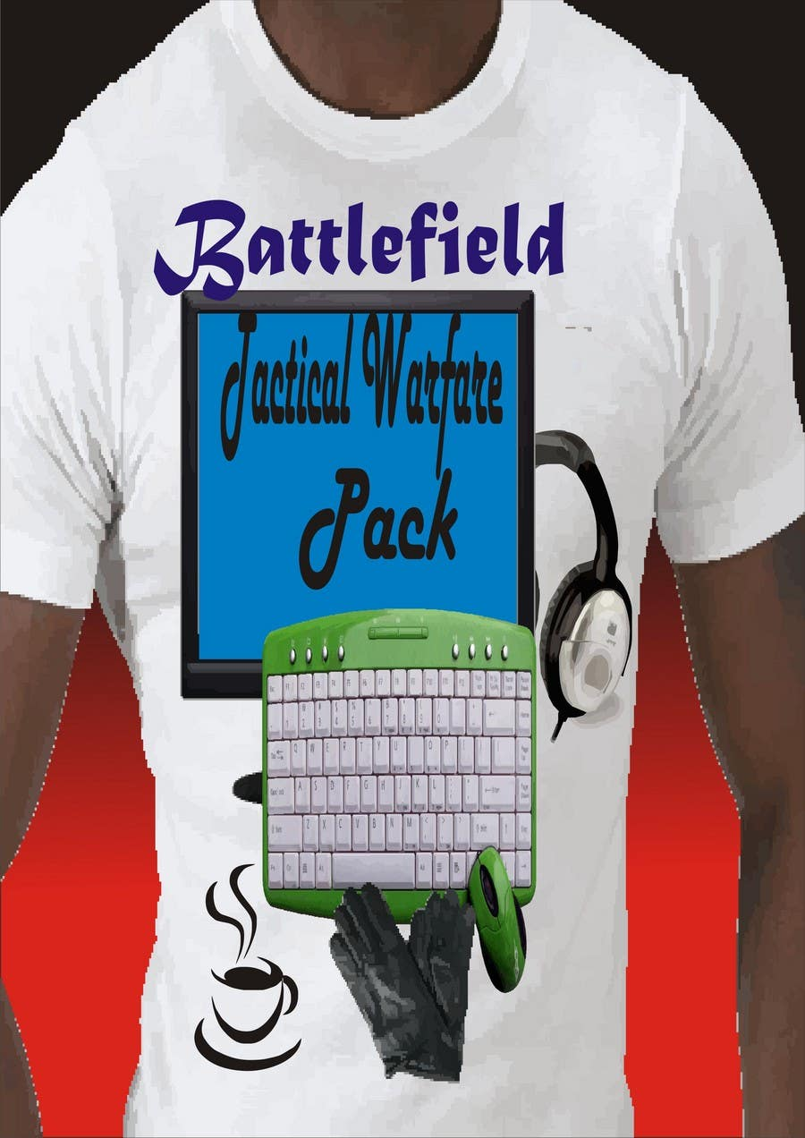 Contest Entry #3 for Battlefield Tactical Warfare Pack [Gaming] T-shirt Design