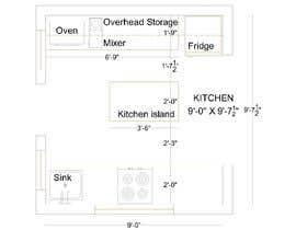 #5 para design a kitchen with island counter de ssquaredesign