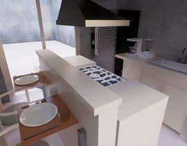 #7 para design a kitchen with island counter de NafaaBA